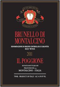 Poggione Brunello 2011 Label