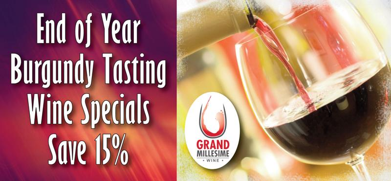End of Year Burgundy Tasting Specials Header