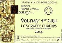 Bouley Grand Champs 2014 Label