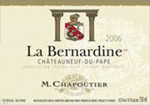 Chapoutier Bernadine 2006 Label