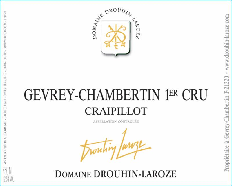 Drouhin-Laroze Craipillot Label