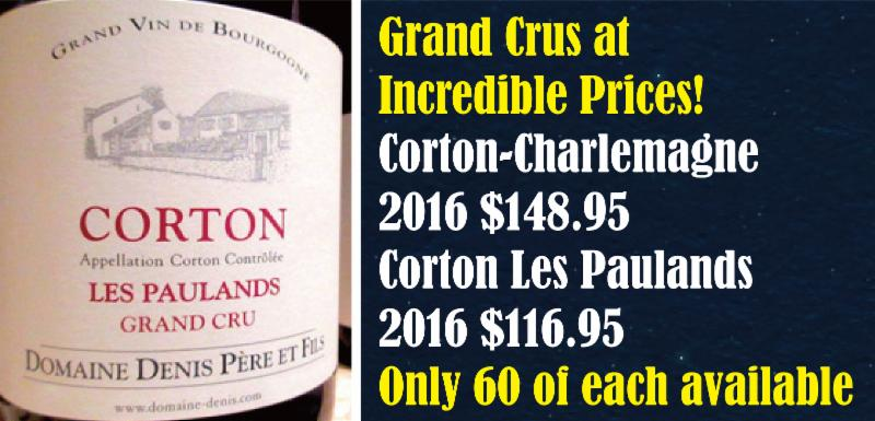 Denis Pere Grand Crus 2016 Header