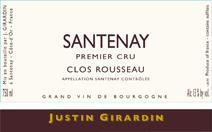 Girardin Clos Rousseau label