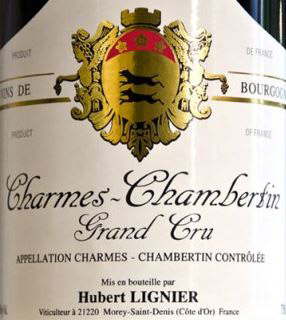 Hubert Lignier Charmes Label
