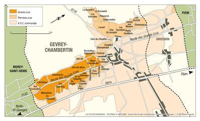 Gevrey-Chambertin Map Lo