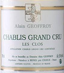Geoffroy Chablis Clos Label