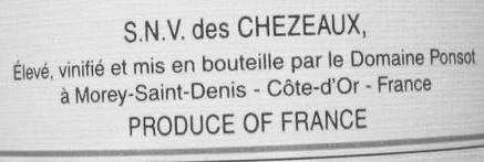 Chezeaux Ponsot