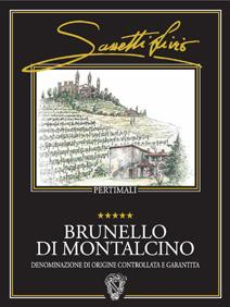 Sassetti Brunello label