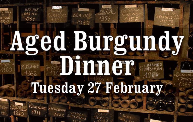 Aged Burgundy Dinner Header