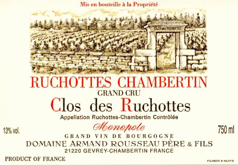 Rousseau Ruchottes Label