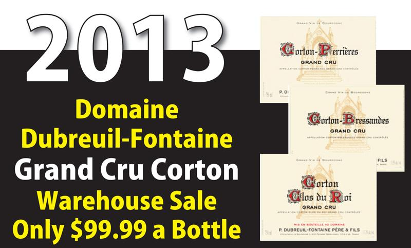 Dubreuil-Fontaine Corton Warehouse Sale