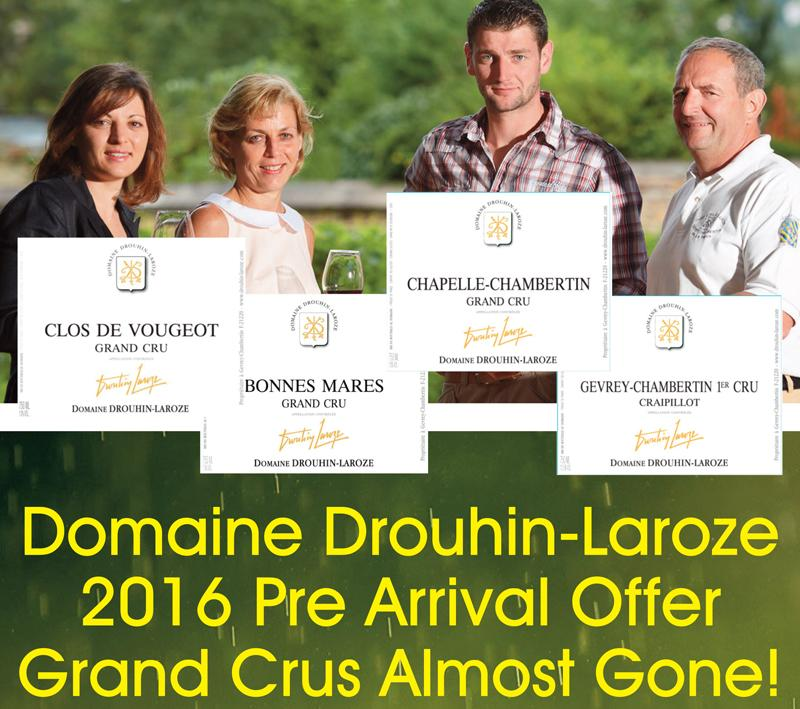 Drouhin-Laroze 2016 PA Almost Gone Header