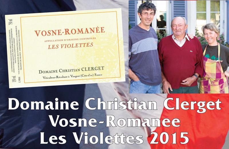 Clerget Violettes 2015 Header