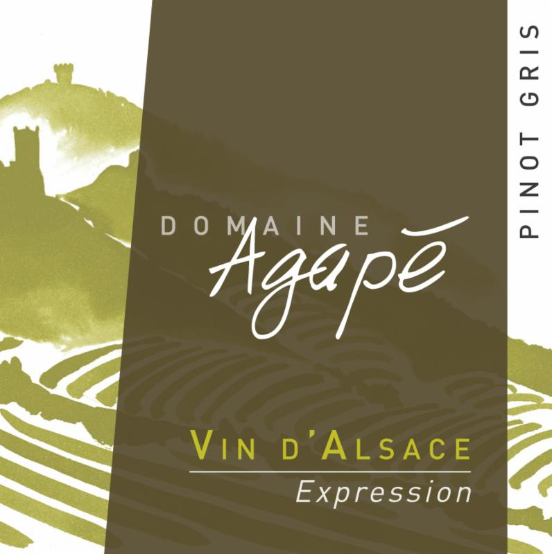 Agape Pinot Gris Expression Label