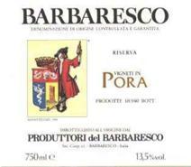 Produttori Barbaresco Pora label