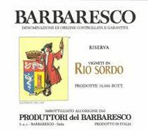 Produttori Barbaresco Rio Sordo label