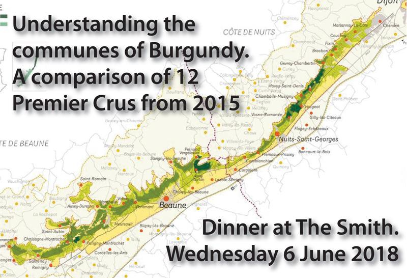 Communes of Burgundy Dinner Header