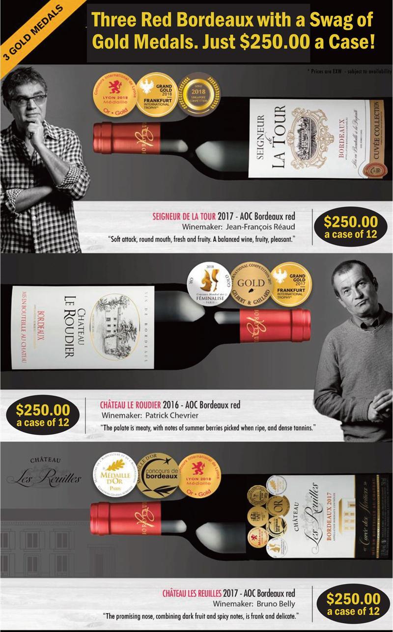 3 Gold Medal Bordeaux