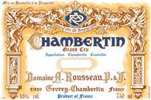 Rousseau Chambertin Label