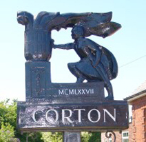 Corton Village Sign
