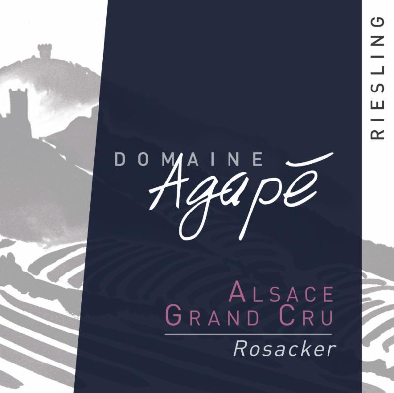 Agape Riesling Rosacker Label