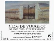 Raphet Vougeot VV Label