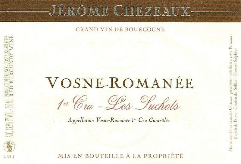 Chezeaux Suchots Label