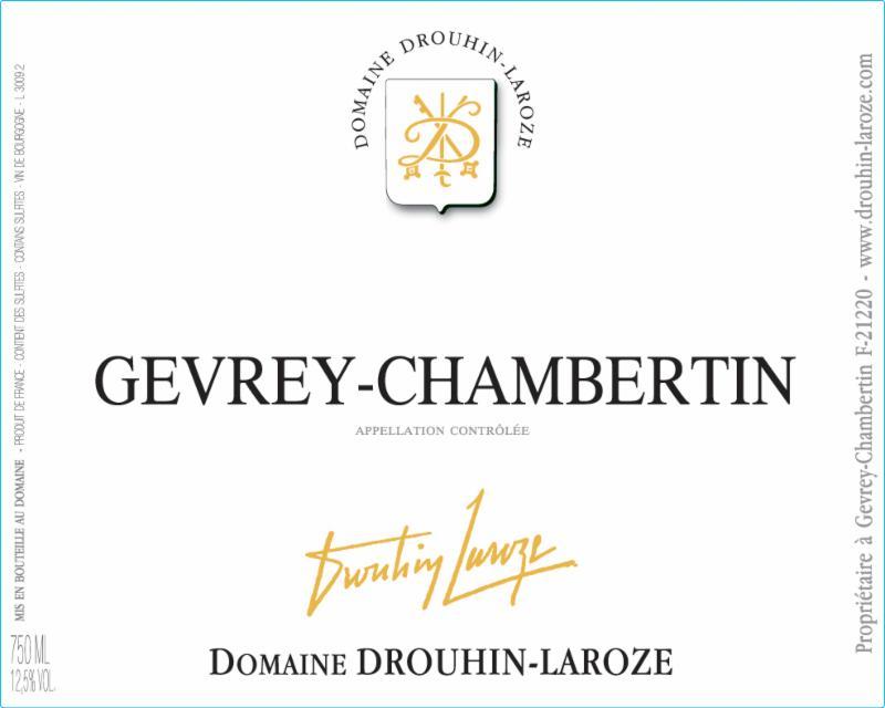 Drouhin-Laroze Gevrey-Chambertin label