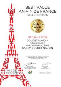 Doudet-Naudein Chardonnay Certificate