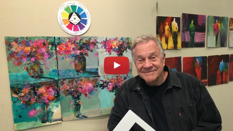 Painting Abstract Florals using 4 Colors