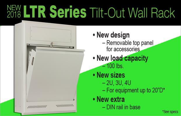 LTR Series Tilt-Out Wall Rack
