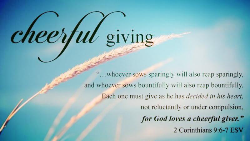 giving tithes offering