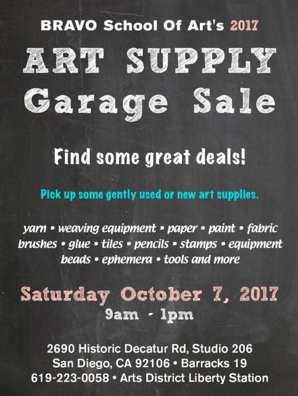Art Supply Garage Sale