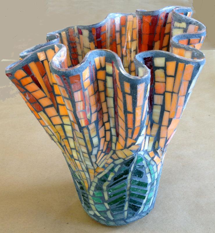 Student's Glass Mosaic vase