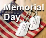 memorial day flag and dog tags