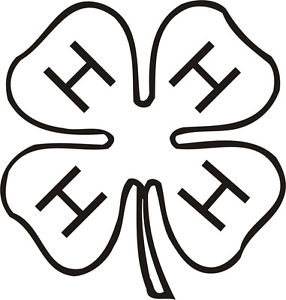 4 h clover coloring page printable coloring pages design