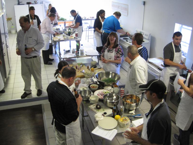 Teambuilding Cooking Class at Newport Cooks