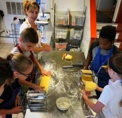 Children Making Pasta
