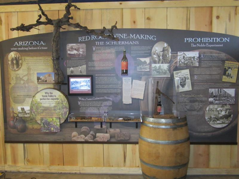 Heritage Museum Wine display