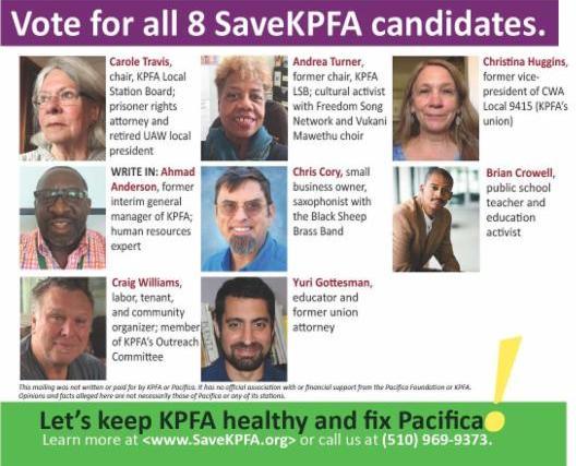 SaveKPFA candidates 2016