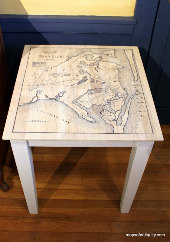 Custom Table with Chatham Map