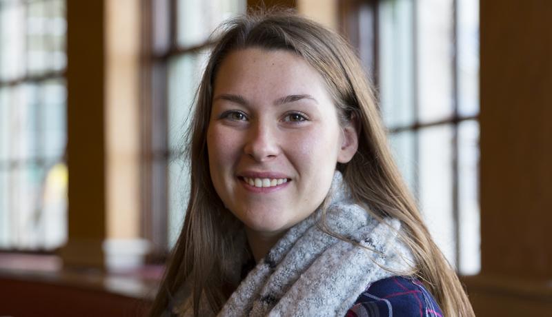 Undergraduate student Makenzie Wydra