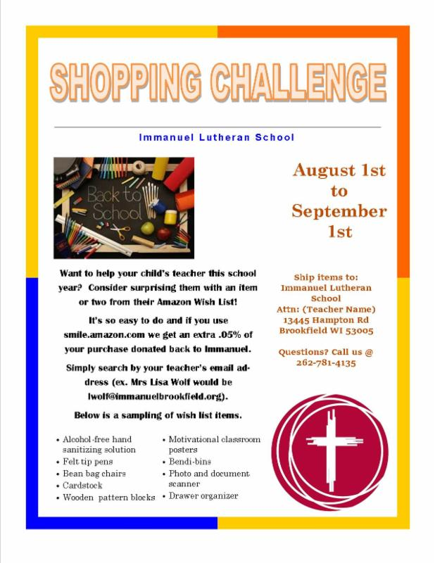 Back to School Shopping Challenge