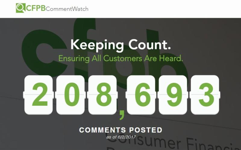 CFPB CommentWatch