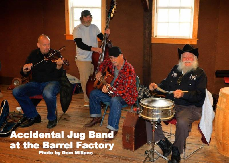 Accidental Jug Band at the Barrel Factory - Photo Credit Dom Millano