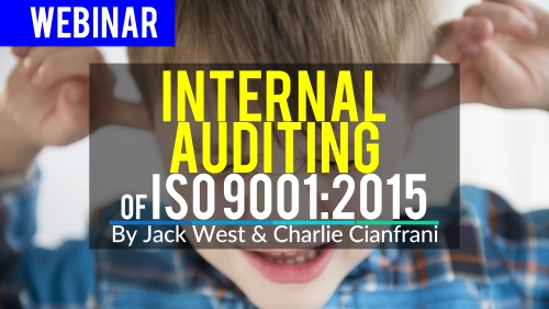 Internal Auditing of ISO 9001_2015