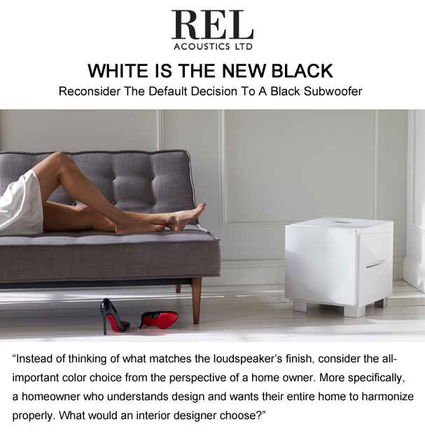 REL Acoustics White is the New Black