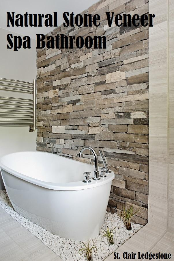 A Natural Stone Veneer Spa Bathroom from Stone Selex on natural kitchen design, golf course bathroom design, restaurant bathroom design, natural living room design, city style bathroom design, natural master bathroom design,