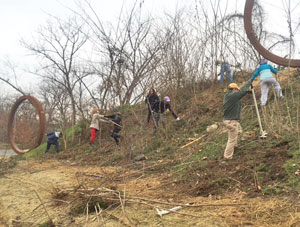 Jan. 2017 clean up at the t-pot