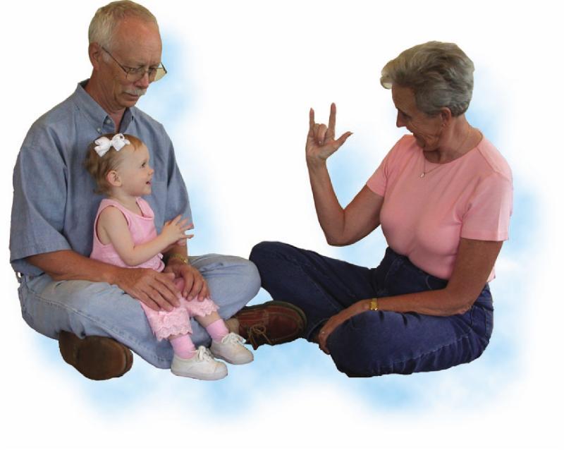 Grandparent says _I LOVE YOU__